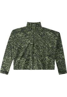 Blusão Verde Animal Em Moletinho
