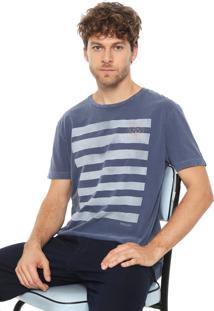 Camiseta Richards Stripes Azul