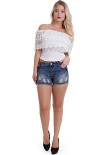 Short Versani Feminino - Feminino-Jeans