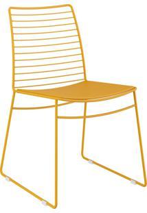 Kit 2 Cadeiras 1712 Couríssimo Móveis Carraro Amarelo