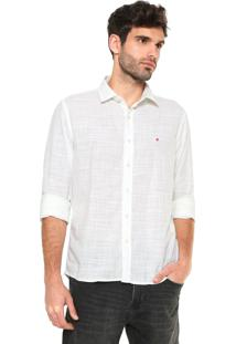 Camisa Replay Washed Slim Fit Off-White