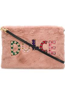 Dolce & Gabbana Clutch Com Logo E Aplicações - Rosa