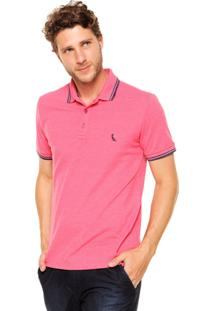 Camisa Polo Reserva Friso Rajado Rosa