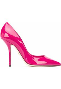 Dolce & Gabbana Sapato Com Logo - Rosa
