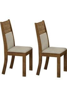 Conjunto Com 2 Cadeiras Havaí Ipê E Metalacê