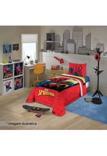Edredom Spider Manâ® Solteiro- Vermelho & Amarelo- 15Lepper