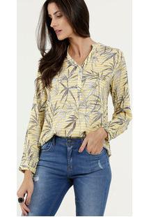 Camisa Feminina Estampa Tropical Marisa
