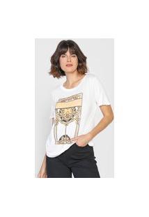 Camiseta Dudalina Be Your Own Inspiration Branca/Amarela