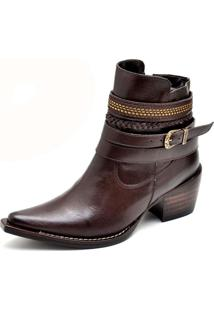 Bota Country Feminina Bico Fino Top Franca Shoes Cafe