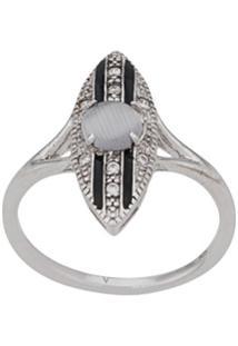 V Jewellery Anel Stripe - Prateado