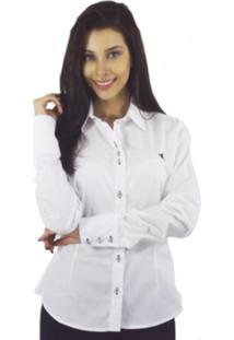Camisa Manga Longa Marai Paes Casual Branca
