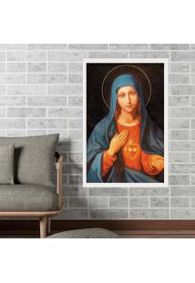 Quadro Love Decor Com Moldura Nossa Senhora Branco Médio