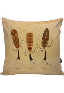 Capa De Almofada African Dance- Bege Escuro & Marromstm Home
