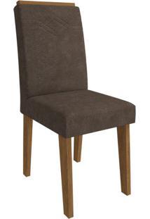 Cadeira Taís Com Moldura Cacau Savana