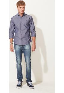 Camisa Slim Masculina Adulto Malwee