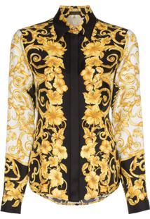 Versace Camisa Com Estampa Signature - Preto f022f48f382