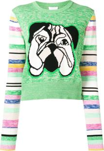 Escada Sport Intarsia Dog Sweater - Verde