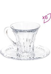 Jogo De Xícaras Para Café Diamond- Cristal- 6Pçslyor