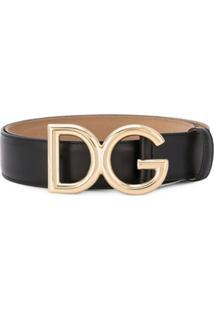 Dolce & Gabbana Cinto Com Logo - Preto