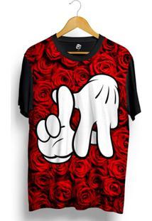 Camiseta Bsc La Hand Red Rose Full Print - Masculino
