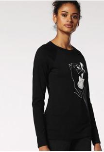 Camiseta Diesel T-Decy-A - Feminino-Preto