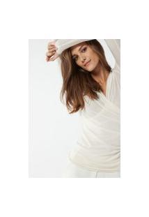 Blusa Em Modal E Cashmere - Off-White G