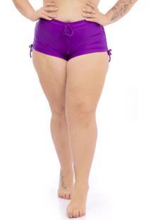 Calcinha Shorts Plus Size Roxo