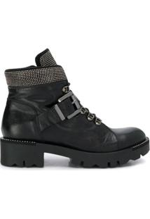 Tosca Blu Ankle Boot Com Aplicações - Preto