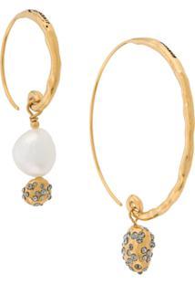 Givenchy Par De Brincos Assimétricos - Dourado