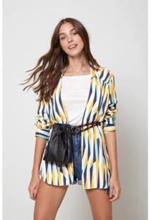 Camisa Est Listra Island Color - Oh, Boy! Feminina - Feminino-Amarelo