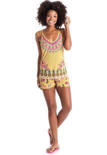 Short Doll California C/ Alca Amarelo/P
