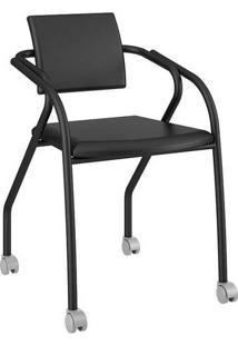 Cadeira Com Rodízios 1713 Color Uv Preta Carraro