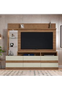 Estante Home Para Tv Até 65 Polegadas Hórus Caemmun Buriti/Off White