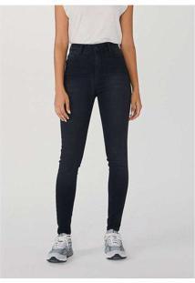 Calça Feminina Jeans Skinny Cintura Alta Soft Touc