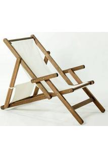 Cadeira Dobrável Com Braços Opi Tec.01.237 Nogueira Mão E Formão