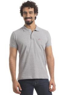Camisa Polo Zaiden Store Piquet Zaiden Basic V1 - Masculino-Cinza Claro