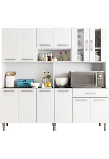 Armário De Cozinha 12 Portas 1 Gaveta Clara Poliman Móveis - Branco
