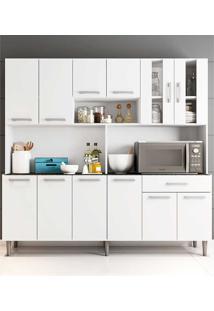 Cozinha Compacta Com Tampo Clara - Poliman - Branco