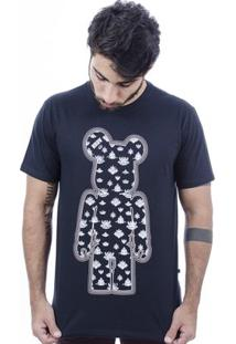 Camiseta Hardivision Indian Toy Art Manga Curta - Masculino-Preto