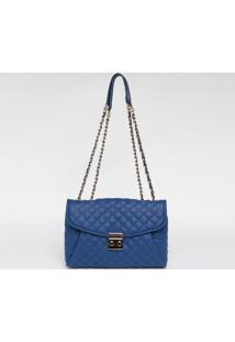 Bolsa Em Matelass㪠Com Encaixe - Azul & Dourada - 23Loucos E Santos