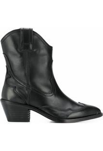 Allsaints Ankle Boot Shira Western - Preto