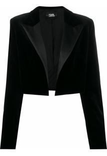 Karl Lagerfeld Jaqueta Karl X Carine De Veludo - Preto