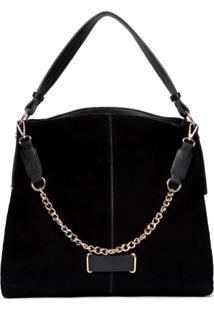 Bolsa Handbag Feminina Camurça Alça Corrente Lisa Casual