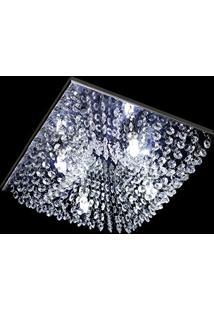 Lustre Cristal Plafon Quadrado 30X30X10Cm - Jp-Kyoto-30