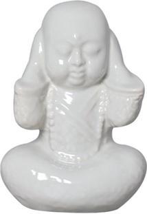 Estátua Decorativa Buda Não Ouço Gelo