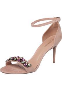 Sandália Dafiti Shoes Pedraria Rosa