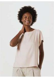 Blusa Feminina Em Tecido De Viscose Rosa
