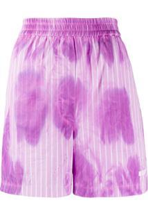 Msgm Tie-Dye Print Shorts - Rosa