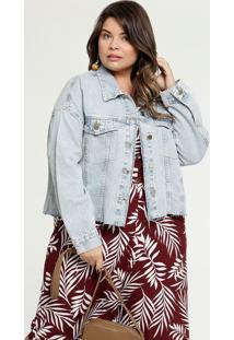 Jaqueta Feminina Jeans Botões Plus Size Marisa