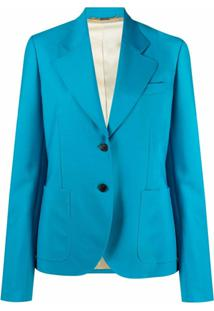 Versace Blazer Com Abotoamento Simples - Azul